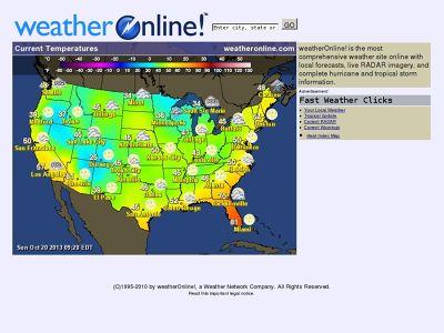 Weather Online tahmin sitesi