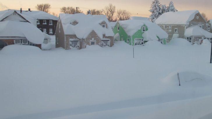 Amerika Buffalo'dan kar manzaraları mest ediyor !