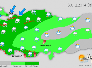 DİKKAT: Kuvvetli kar, yağmur, fırtına !