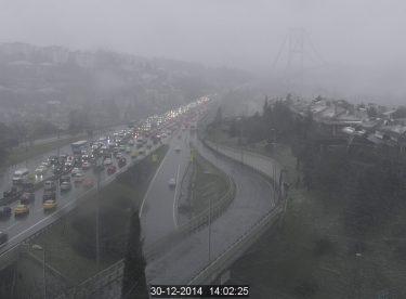 İstanbul'da rüzgar ve kar akşam kuvvetleniyor…