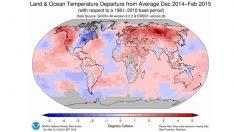NOAA: 2014 – 2015 Kışı En Sıcak Kış Oldu…