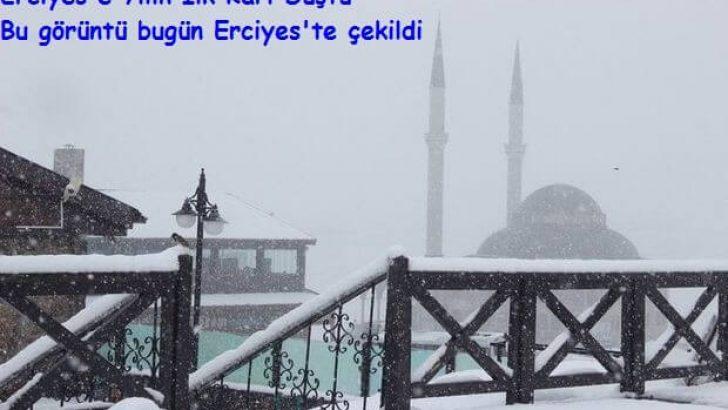 Erciyes'e Yılın İlk Karı Düştü