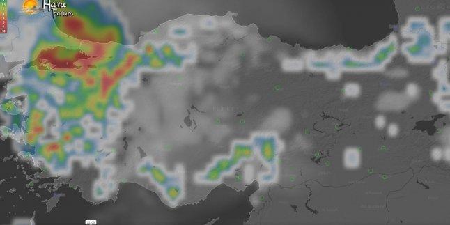 Pazartesi Gününden İtibaren Kuvvetli Yağmur…