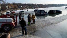 Buz Kırıldı Araçlar Suya Gömüldü !