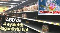 Matthew Kasırgası Amerika'yı Alarma Geçirdi !