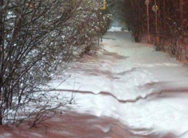 Yakutistan, Mirney'de Yoğun Kar Yağışı !