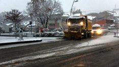 Erzurum'da Kar Yağışı Etkili Oldu !