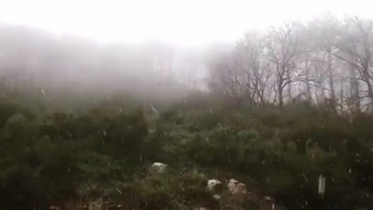 İstanbul'un Yükseklerinde Kar Görüldü…