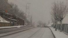 Kayseri'de Mart ayında kar etkili oldu…