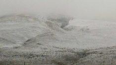 4 kentin yüksek kesimleri karla tanıştı…