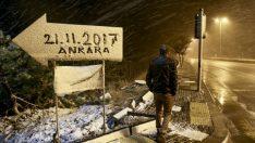 Başkent'in ilk karı yağdı