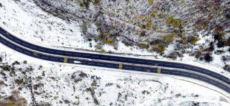 Bolu Dağı'ndan kar manzaraları