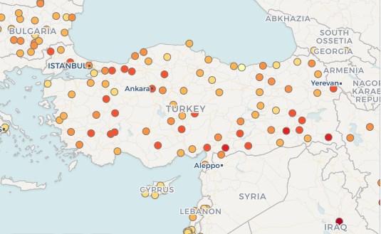 Türkiye'nin havası en kirli şehirleri