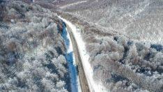 Domaniç Dağları'nın kar güzelliği