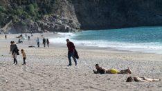 Fethiye'de ocak ayında deniz keyfi