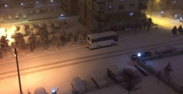 Edirne'de kar yağışı etkili oluyor…