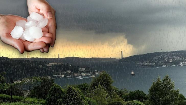 İstanbullular Dikkat! Sağanak yağmur ve yerel dolu geliyor…
