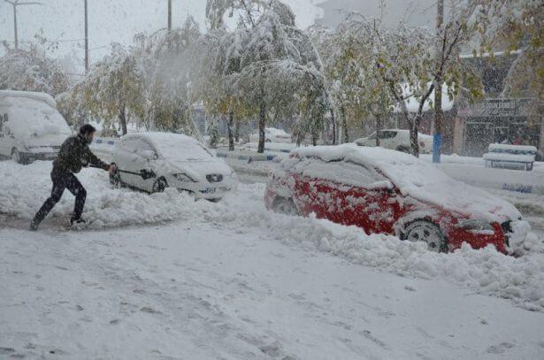 5 Ekim ayında 25 santimetre kar ! Haberler