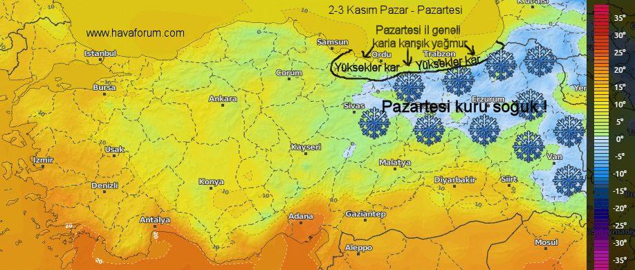 Image2 Karadeniz ve İç Bölgelerimize kar geliyor ! Haberler