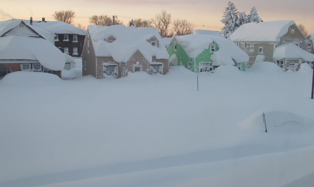 7-Kopya Amerika Buffalo'dan kar manzaraları mest ediyor ! Genel Haberler