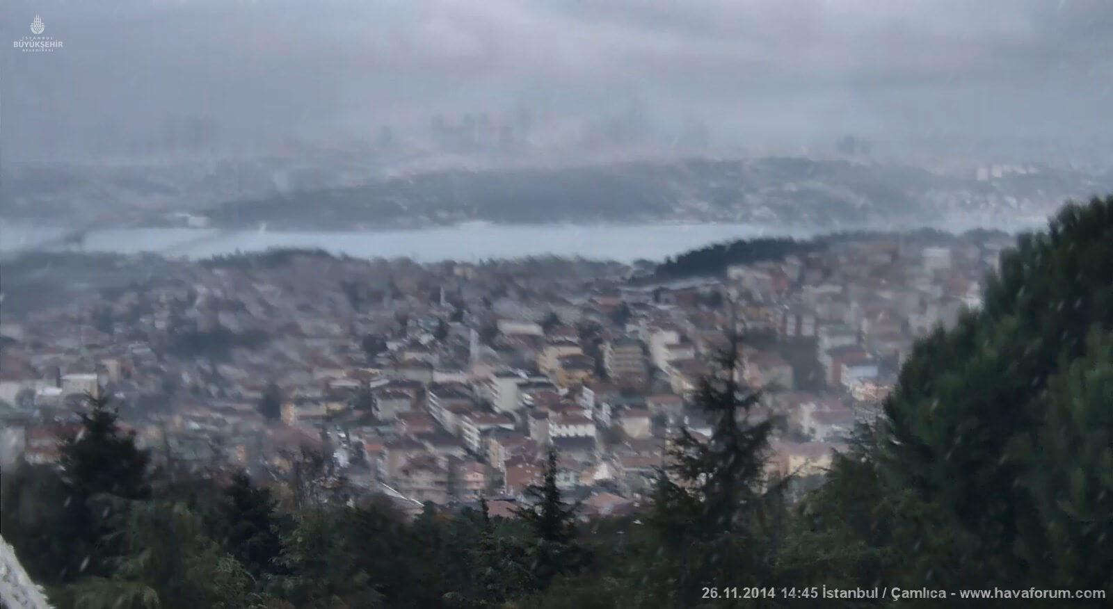 İstanbul Çamlıca mevsimin ilk karını aldı !