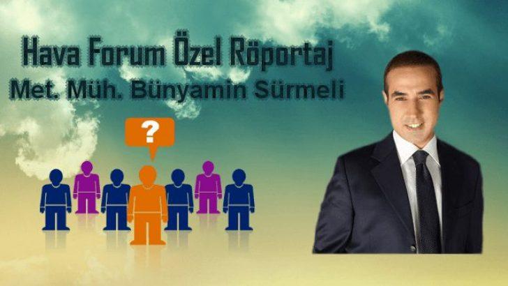 Bünyamin Sürmeli Röportajımız (Cnn Türk Meteoroloji Editörü)