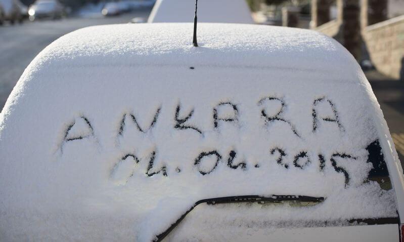 ankarada-nisanda-kar Ankara'da Nisanda Kar Yağışı... Haberler