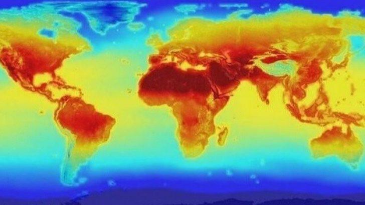 NASA Temmuz 2099 küresel sıcaklık haritası