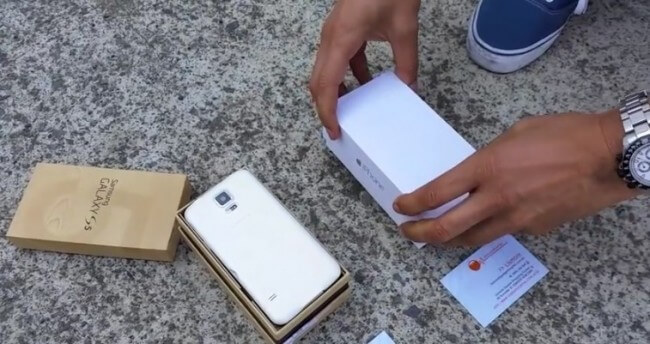 İphone 6 ve Galaxy S5 yakma testi