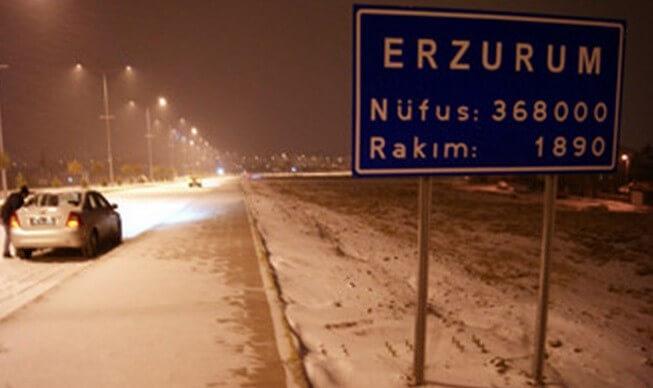 Erzurum'da mevsimin ilk kar yağışı görülebilir...