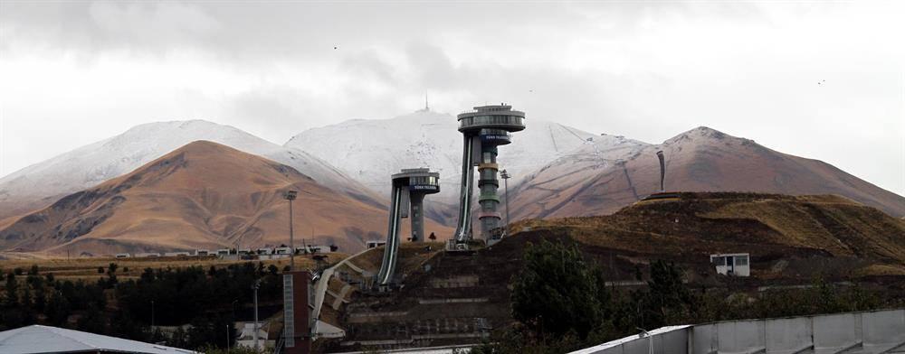 Palandöken'de Kar Yağışı Devam Ediyor