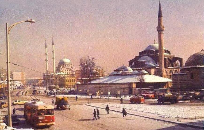 istanbul nostaljik kar fotografi
