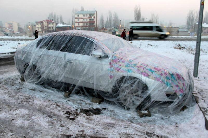 1 Ağrı'da araçlara battaniyeli koruma... Haberler