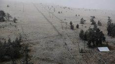 Kartalkaya'da Mevsimin İlk Kar Yağışı…
