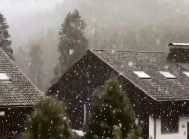Almanya'da Kar Yağışı…