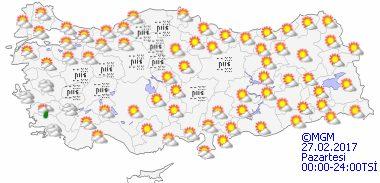 haritatahminkucukgun1 Yeni Haftada Bahar Havası Var! Haberler