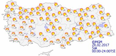 haritatahminkucukgun2 Yeni Haftada Bahar Havası Var! Haberler
