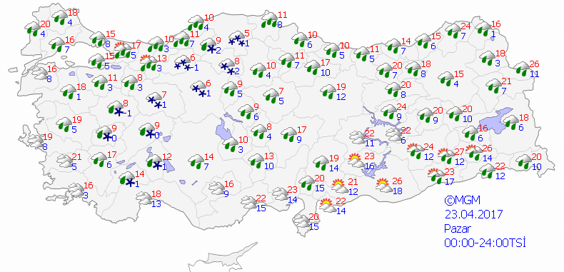 haritatahmingun2-1 23 Nisan Pazar Hava Fırtınalı, Soğuk ve Yer Yer Karlı ! Haberler