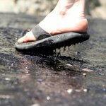 Fethiye'de Sıcaktan Asfalt Eridi!
