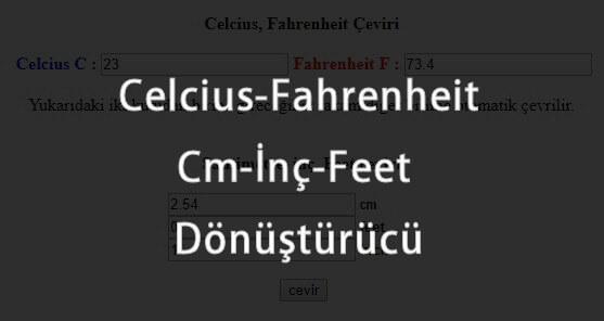 celcius-fahrenheit-santimetre-inc-ceviri-donusturucu Meteorolojik Hesaplayıcılar