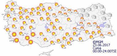 haritatahminkucukgun5 Sıcak Hava Geliyor... Haberler