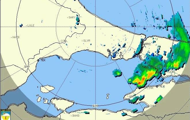 Pendik ve Çınarcık çevresinde kuvvetli yağış uyarısı!