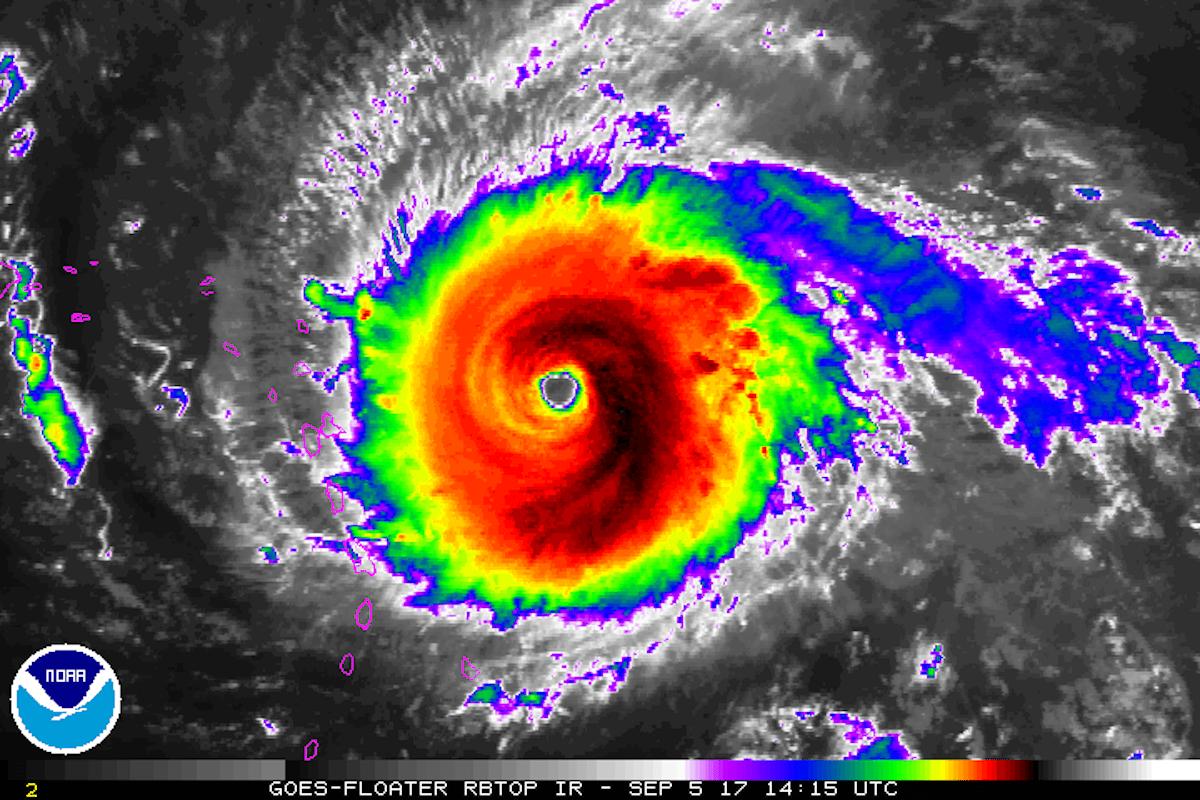 hurricane-irma-noaa-goes-satellite-infrared-rbtop-sept-5-2017-min Korkulan oldu IRMA Kıyıya Ulaştı! Haberler
