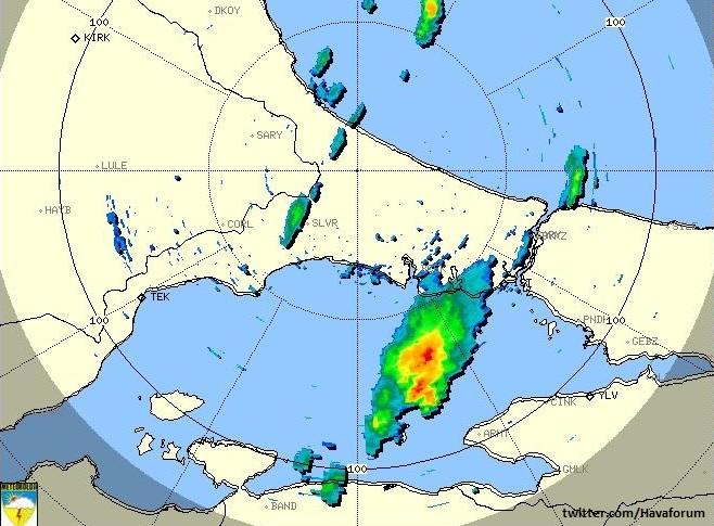Yağışlı Kütle İstanbul'a Yaklaşıyor!