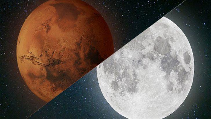 Mars ve Ay'da insan yaşamına uygun alanlar bulundu