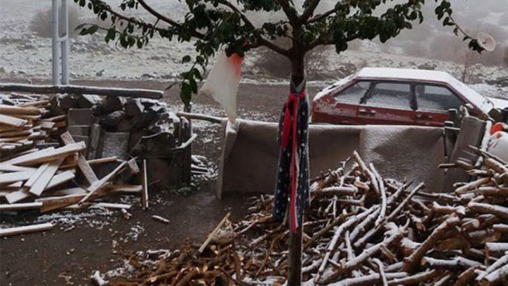 Ankara'nın yüksek kesimlerine kar yağdı!