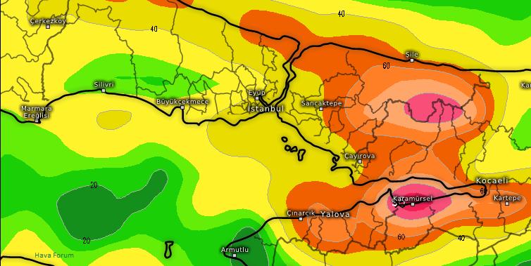 İstanbul'da kuvvetli yağmur bekleniyor!