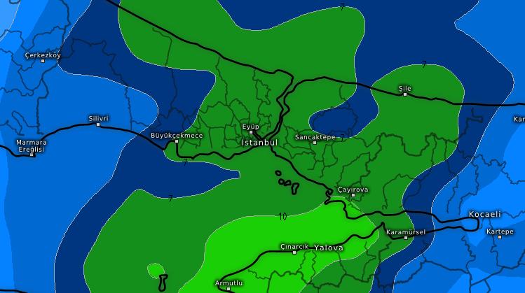 istanbul-yagmur İstanbul'a akşam sağanak yağmur geliyor! Haberler