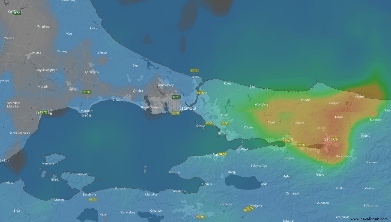 oglen-istanbul Serin ve yağışlı hava etkili oluyor... Haberler