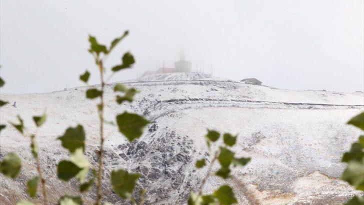 Palandöken'e İlk Kar Düştü…
